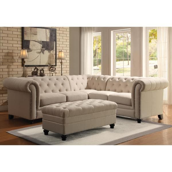 Shop Royal Mid-Century Button Tufted Design Living Room