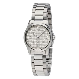Gucci Women's YA126551 'G-Timeless' Diamond Stainless Steel Watch