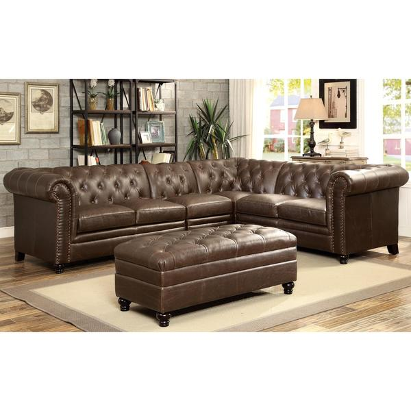 Royal Mid Century Button Tufted Design Living Room