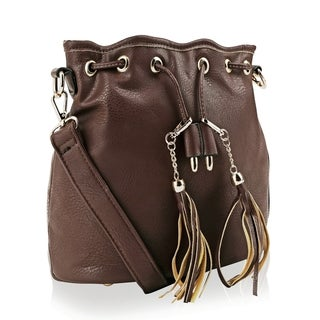 MKF Collection Amala Drawstring Crossbody Bag by Mia K. Farrow