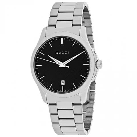Gucci Unisex YA126457 'G-Timeless' Stainless Steel Watch