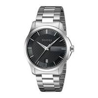 9e983bd18d8 Shop Gucci Men s  Timeless  Stainless Steel Watch - silver - Free ...