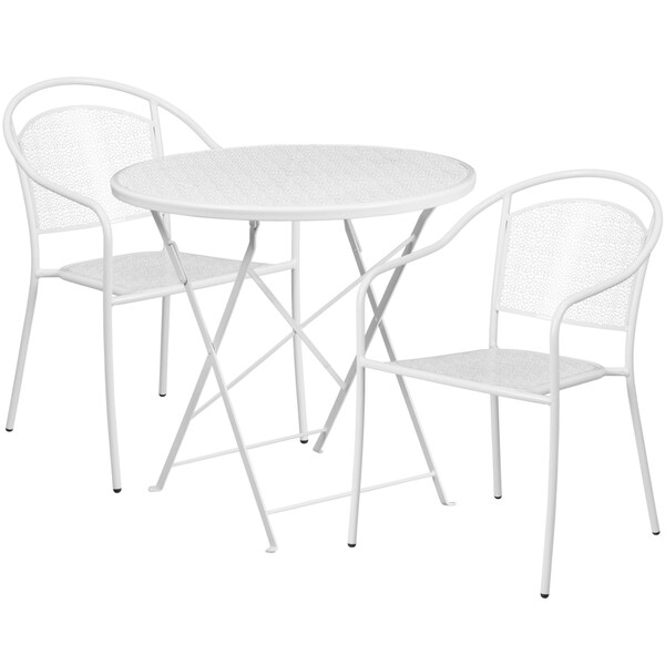 Superior 30 Inch Round Table With 2 Seats