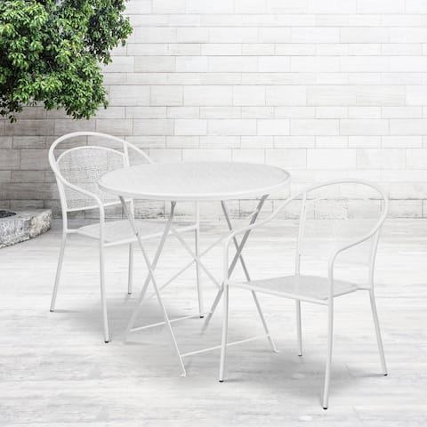 30-inch Round Table with 2 Seats