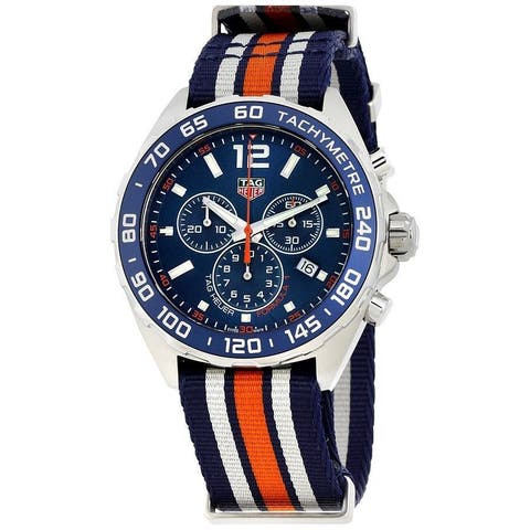 Tag Heuer Men's CAZ1014.FC8196 'Formula One' Chronograph Orange Blue and White Nylon Watch