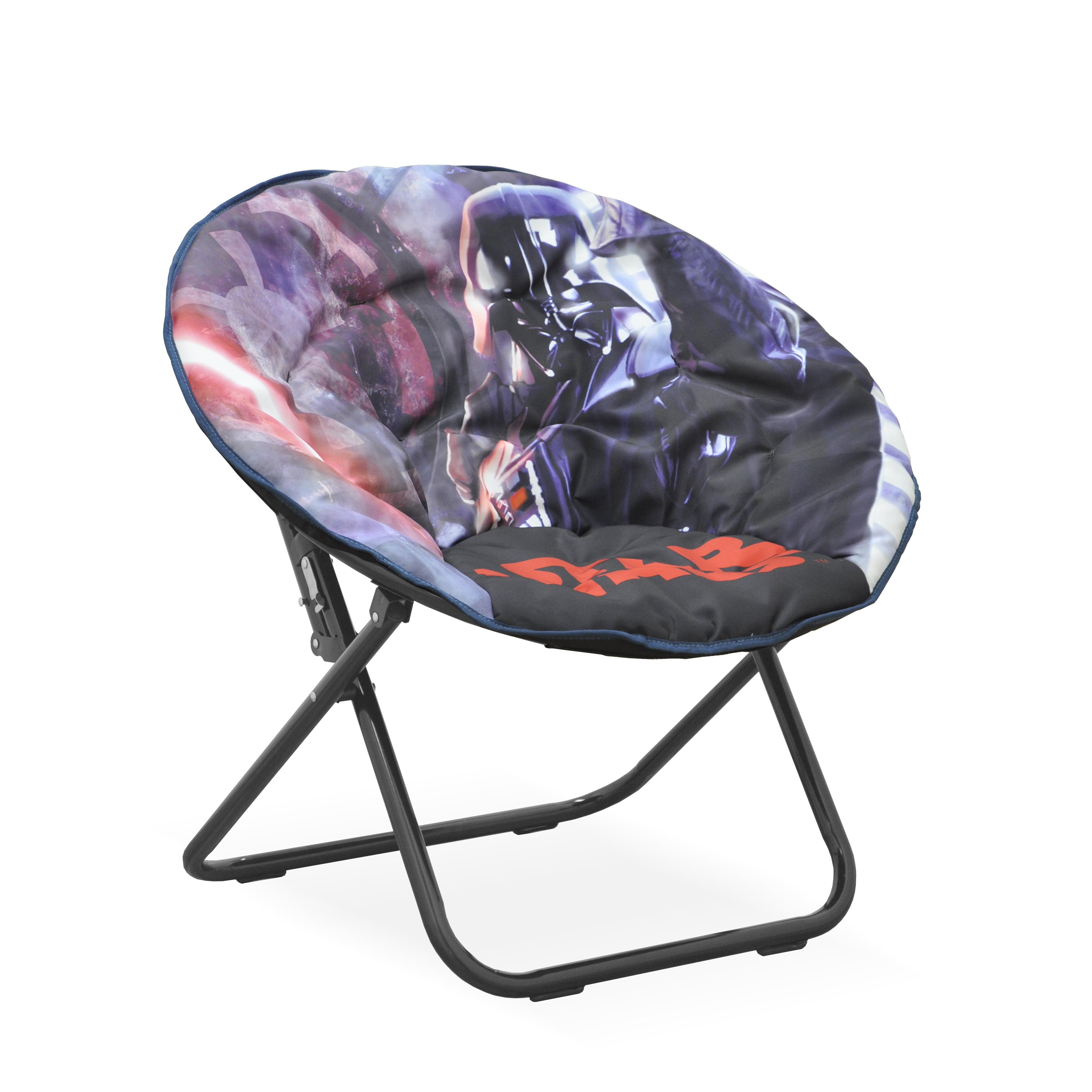 Star Wars Multicolored Polyester/Metal Kids Saucer Chair ...