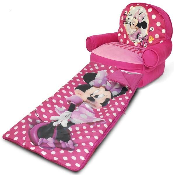 Groovy Minnie Mouse Kids Bean Bag Arm Chair With Sleeping Bag Creativecarmelina Interior Chair Design Creativecarmelinacom