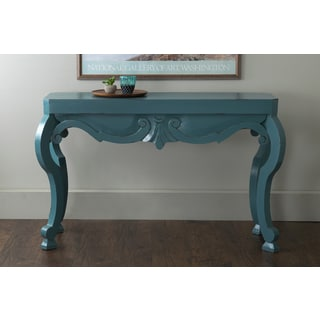 East At Main's Sterling Turquoise Mahogany Rectangle Console Table