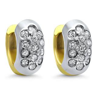 Noori 14k Gold 2/5ct TDW Diamond Hoop Petite Lever back Earrings