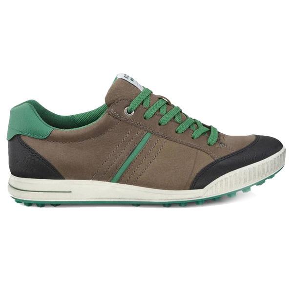 ECCO Street Retro Golf Shoes  Birch/Black/Pure Green