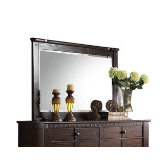 Acme Furniture Brooklyn Espresso Pinewood Beveled Mirror