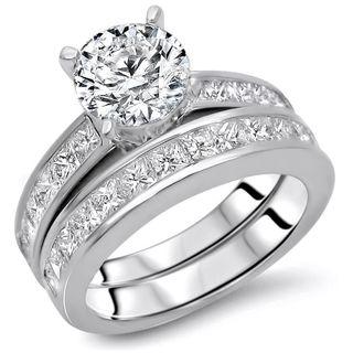 Noori 14k Gold 2 1/2ct TDW Round Diamond Enhanced Engagement Ring Set (G-H, SI1-SI2)