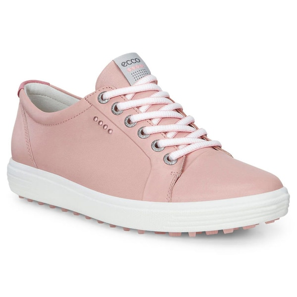 ECCO Casual Hybrid Golf Shoes Ladies Silver Pink