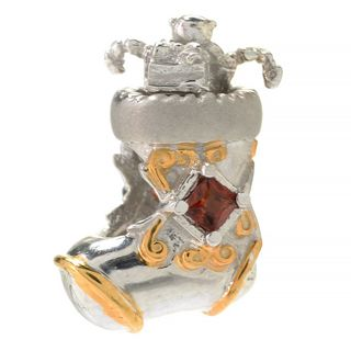 Michael Valitutti Almadine Garnet Stocking Charm