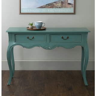 East At Main's Stateline Turquoise Mahogany Rectangle Console Table