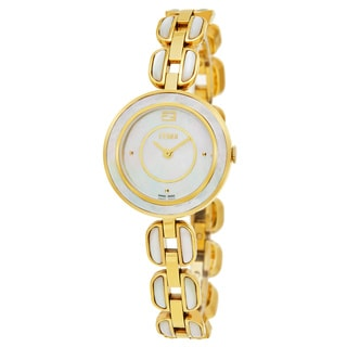 Fendi Women's F361424500 'My Way' Mother of Pearl Dial Goldtone MOP Bracelet Small Swiss Quartz Watch