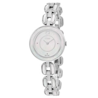 Fendi Women's 'My Way' Mother of Pearl Dial Stainless Steel MOP Small Swiss Quartz Watch