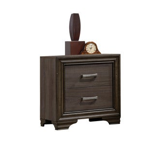 Acme Furniture Cyrille Walnut Wood and Veneer 2-drawer Nightstand