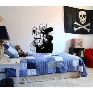 Japanese anime The thug gangster Kids Room Children Stylish Wall Art Decal size 48x57 Color Black
