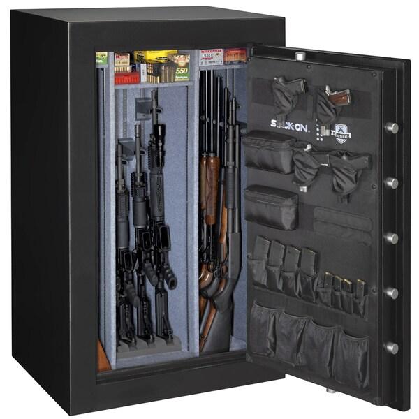 Stack-On Matte Black/ Silver/ Grey Steel Tactical Fire-resistant Safe