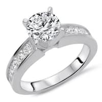 Certified Noori 14k White Gold 1 1/2ct TDW Round Diamond Natural Engagement Ring