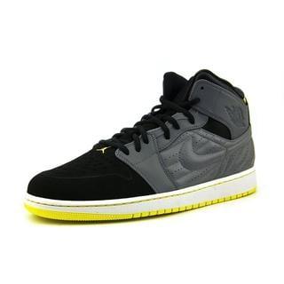 Nike Men's Air Jordan 1 Retro 99 Black Leather Athletic Shoes