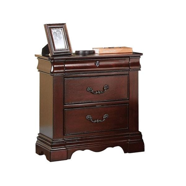 Acme Furniture Estrella Dark Cherry 2-drawer Hidden-tray Nightstand
