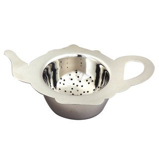 Elegance Stainless Steel Tea Strainer - Tea Pot Shaped