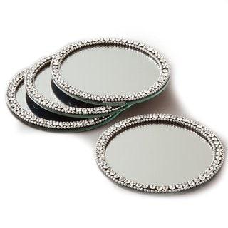 Elegance Brilliant Set of 4 Mirror Coasters