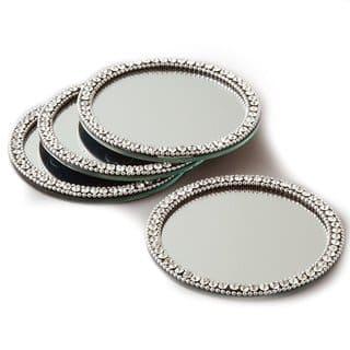Elegance Brilliant Set of 4 Mirror Coasters|https://ak1.ostkcdn.com/images/products/13211755/P19930835.jpg?impolicy=medium