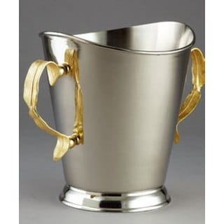 """Elegance Gold Feather Champagne Bucket H:8.5"""""""