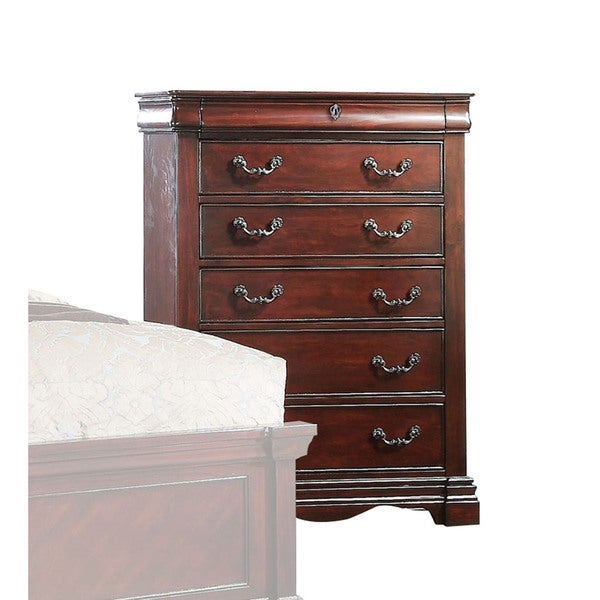 Furniture Of America Tayler Traditional 6 Drawer Dark Cherry Chest On Shipping Today 15926249
