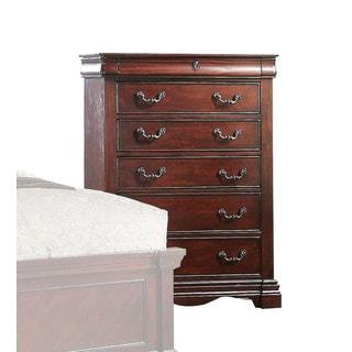 Acme Furniture Estrella Dark-cherry-finished Pine 6-drawer Chest