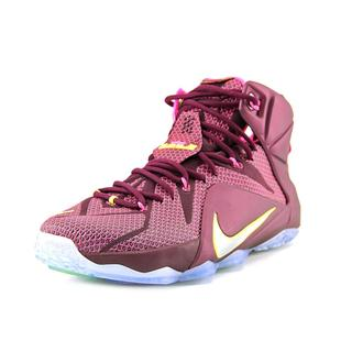 Nike Men's 'Lebron XII' Red Mesh Athletic Shoes