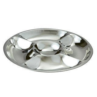 Elegance Stainless Steel 5-Compartment Serving Tray