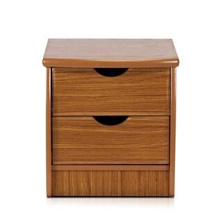 Furinno Simple Design Cherry Veneer 2-drawer Bedside Chest