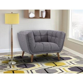 Armen Living Phantom Grey Linen Mid-century Chair