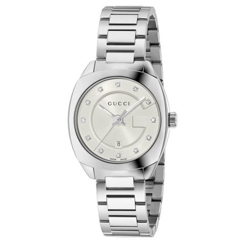 Gucci Women's 'GG2570 Small' Diamond Stainless Steel Watch