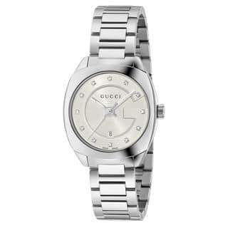Gucci Women's YA142504 'GG2570 Small' Diamond Stainless Steel Watch|https://ak1.ostkcdn.com/images/products/13211874/P19930866.jpg?impolicy=medium
