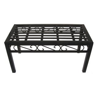 Oakland Living Corporation Imperial Brown Wrought Iron Rectangle Coffee Table