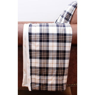 Penny Plaid Printed Microplush Throw
