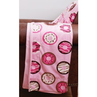 Donna Donuts Printed Microplush Throw
