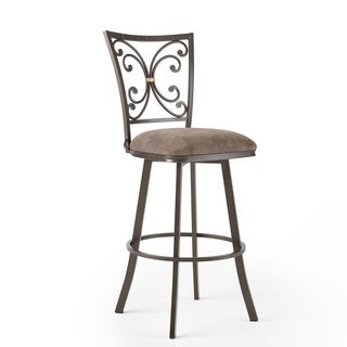 Cambria 30-inch Swivel Bar Stool by Greyson Living