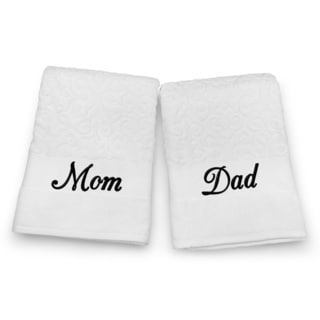 Mom and Dad Embroidered Bath Towel Set
