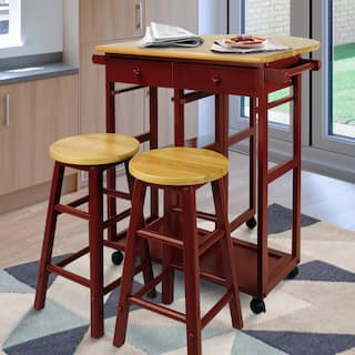 Red Bar & Pub Table Sets For Less | Overstock