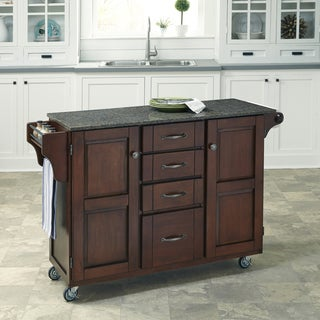 Create-a-Cart in Rustic Cherry Finish by Home Styles
