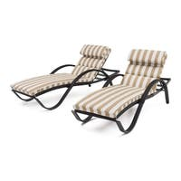 RST Brands Deco Maxim Beige Chaise Lounges With Cushions