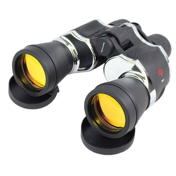 Black and Chrome Sharp-View, Quick-Focus Outdoor Binoculars