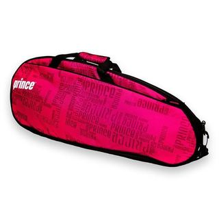 Prince Club 3 Pack Pink/ Black Polyester Tennis Bag