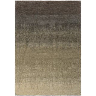 Ombre Shag Grey/ Beige Rug (9'10 x 12'10) (As Is Item)